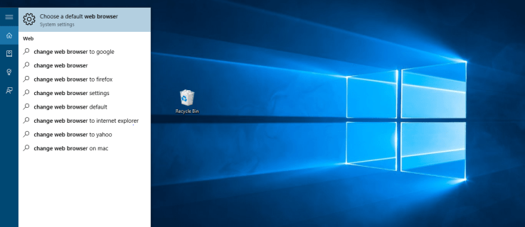 How to change your default browser on Windows 10