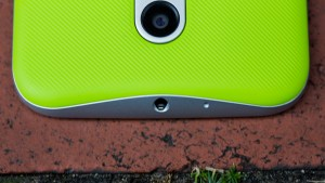 Motorola Moto G 3 review: The top edge houses the 3.5mm headphone jack