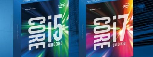 Intel Skylake CPUs: Box shots