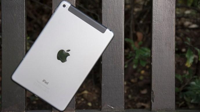 Apple iPad mini 4 review: Rear, at an angle