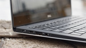Dell XPS 13 review: Left edge and keyboard