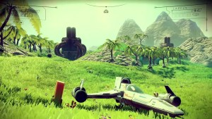 no-mans-sky-landed-spaceship-and-green-world