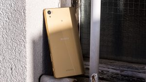 Sony Xperia Z5 Premium review: Rear at an angle