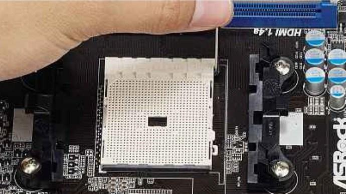 open-the-socket-lever-amd
