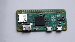 Raspberry Pi Zero from above