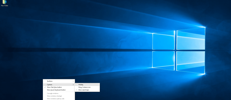 How to remove the search bar and Cortana from Windows 10 taskbar