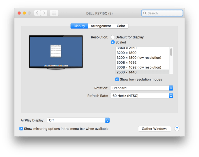 mac os x system preferences custom resolution