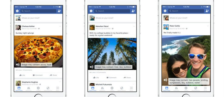 Facebook harnesses Artificial Intelligence to read photos to the blind