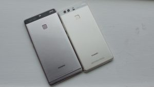 Huawei P9 plus and P9 rear head on