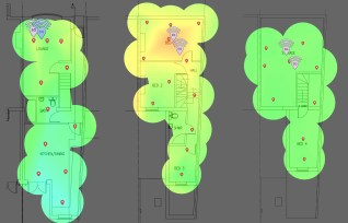 BT Smart Hub signal strength heatmap