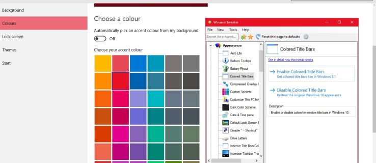 How to Customize the window title bar in Windows 10