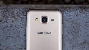 Samsung Galaxy J5 rear and camera