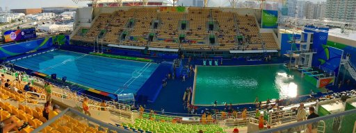 Why did an Olympic swimming pool turn green overnight?