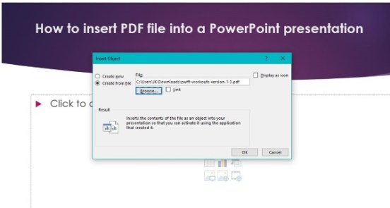 How to insert PDF file into a PowerPoint presentation-3
