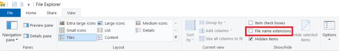 File Explorer View menu