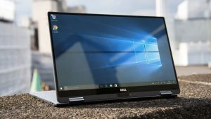 Dell XPS 13 2-in-1 in stand mode