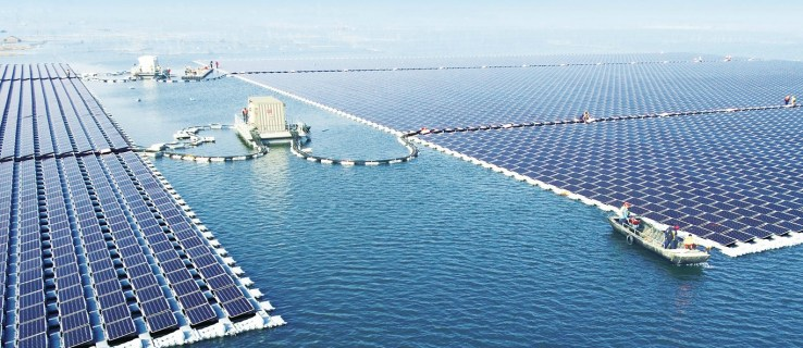 China continues green push with world's largest floating solar farm