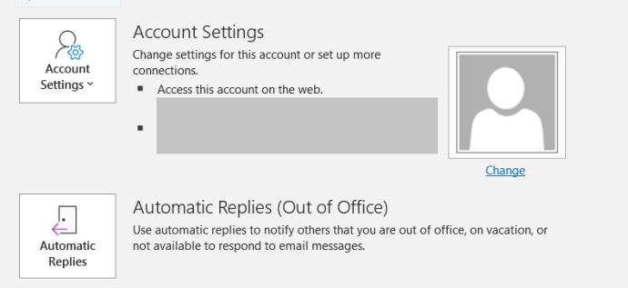 Outlook Account Settings