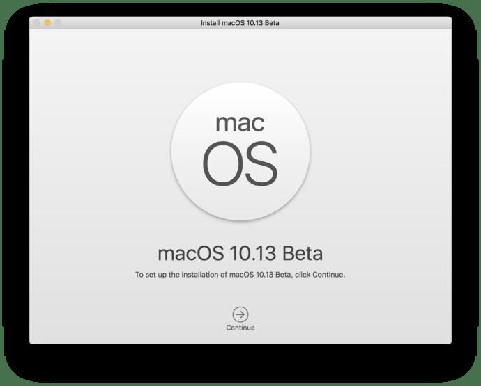 macos high sierra app installer