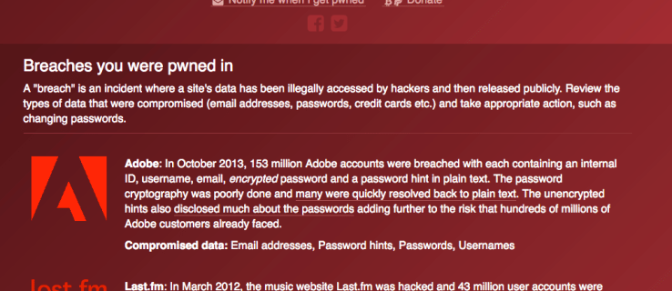 Have I Been Pwned? reveals if your email or passwords have been stolen by hackers