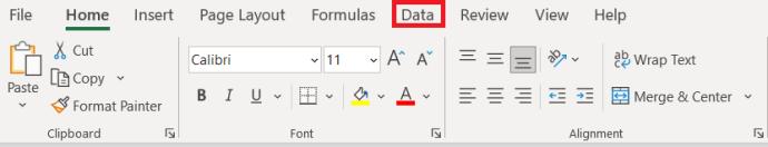 Excel Menu