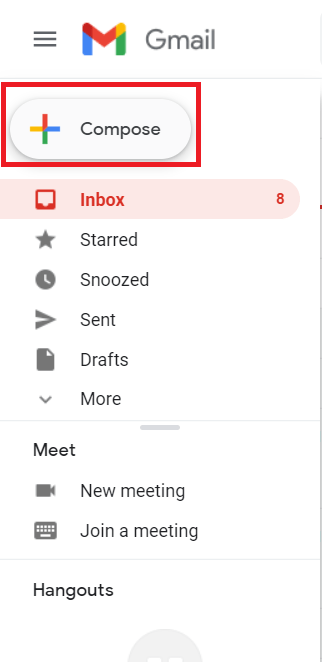 Gmail email button