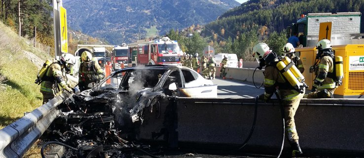 Putting out a Tesla Model S fire is pretty hard