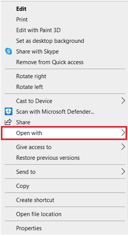 Windows menu extended
