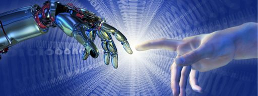 artificial_intelligence_human_hand_touching