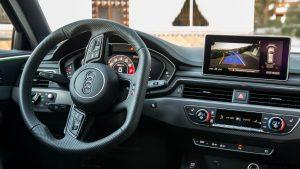 Audi RS4 Avant steering wheel angled
