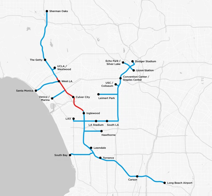 Elon Musk Boring Company LA tunnels
