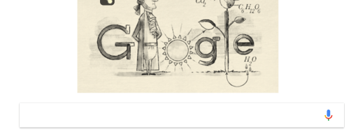 Jan Ingenhousz and his discovery of the photosynthesis equation celebrated in a Google Doodle