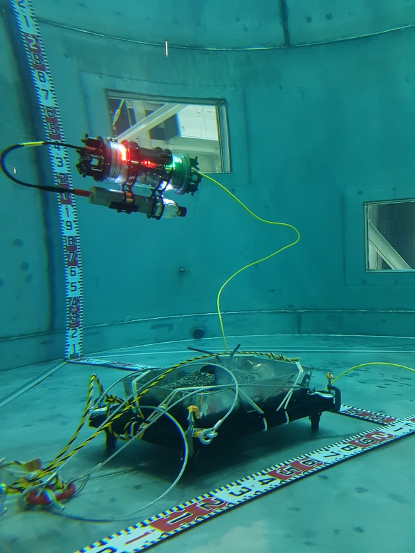 Searching for Simulated Fukushima Fuel Debris Using an AVEXIS TM ROV