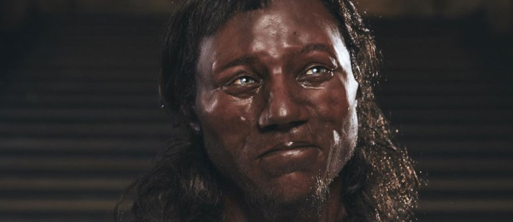 Britain's earliest modern settlers had dark skin and blue eyes, according to new research