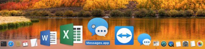 Messages App Back in Dock