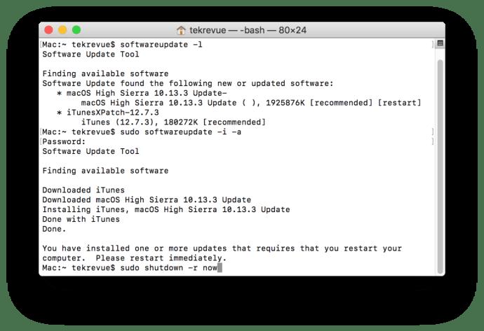 mac software update terminal