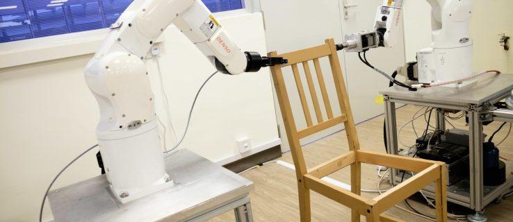 Robot building IKEA Stefan chair