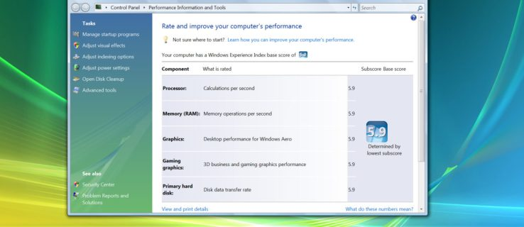 How to See Your PC's Windows Experience Index Score in Windows 10