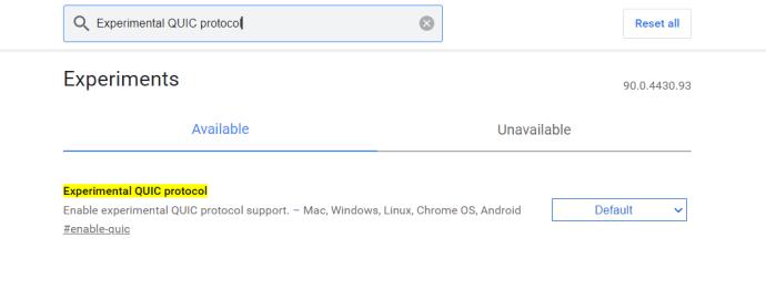 Configuración de banderas de Chrome