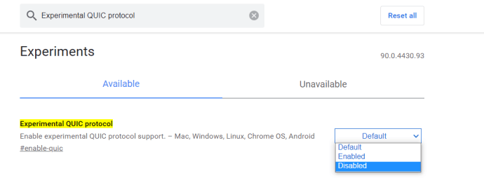 Configuración de banderas de Chrome 2