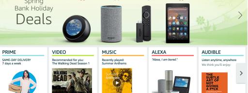 Amazon Spring Bank Holidays Deals
