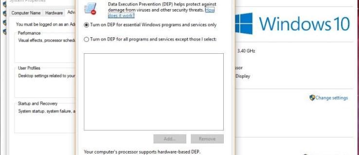Hur inaktiverar du DEP med Windows 10-kommandoraden