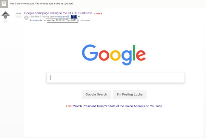 google_donald_trump_state_of_union_reddit_proof
