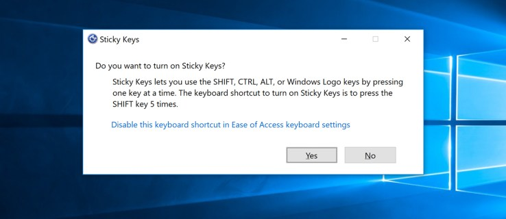 disable sticky keys prompt windows 10