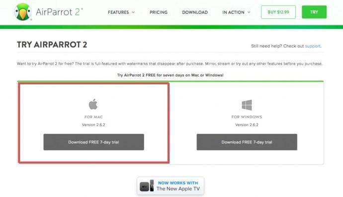AirParrot 2 Mac download