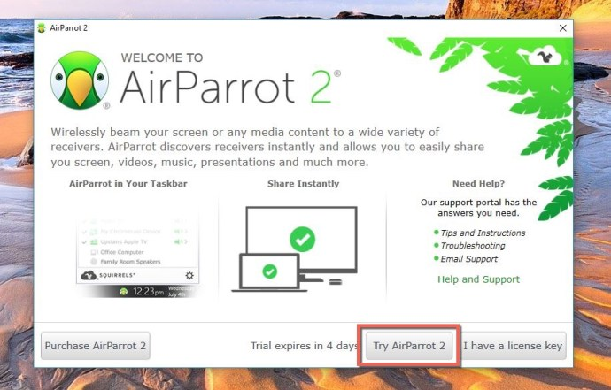 Try AirParrot App
