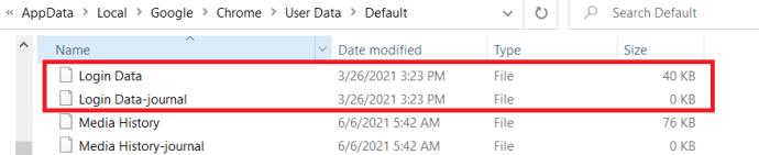 Chrome App Data Folder