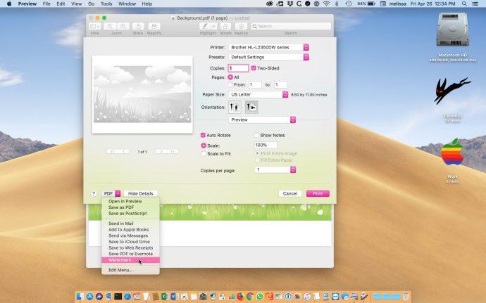 print watermark pdf mac