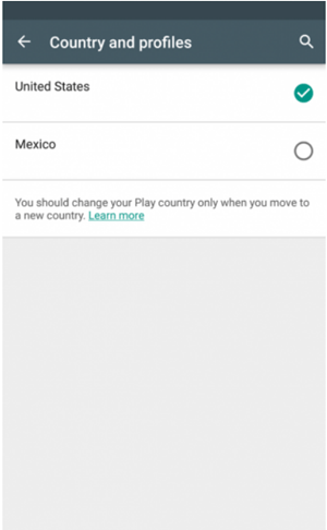 Change the Country in the Play Store