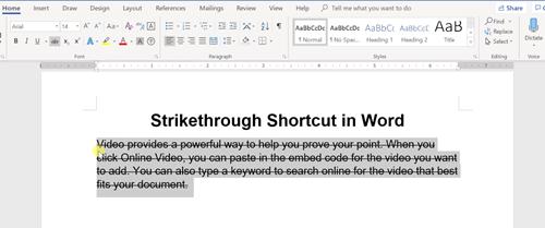 Shortcut 1
